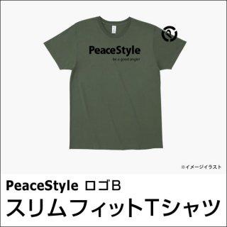PeaceStyleロゴB スリムフィットTシャツ(アーミーグリーン×ブラック)