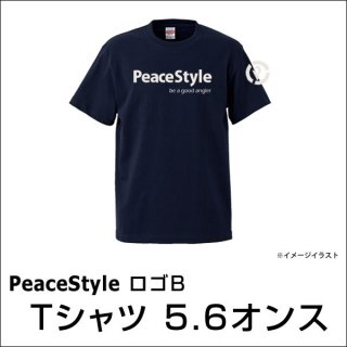 <img class='new_mark_img1' src='https://img.shop-pro.jp/img/new/icons15.gif' style='border:none;display:inline;margin:0px;padding:0px;width:auto;' />PeaceStyleロゴB Tシャツ 5.6オンス(ネイビー×オフホワイト)