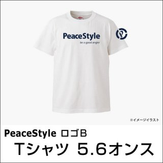 <img class='new_mark_img1' src='https://img.shop-pro.jp/img/new/icons15.gif' style='border:none;display:inline;margin:0px;padding:0px;width:auto;' />PeaceStyleロゴB Tシャツ 5.6オンス(ホワイト×ネイビー)