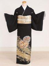 黒留袖レンタル(TS-4)黒/鳳凰・蔦 正絹