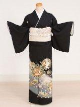 黒留袖レンタル(TS-5)黒/鳳凰・蔦 正絹