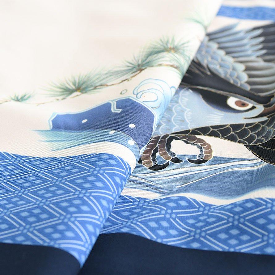 七五三着物五歳羽織袴レンタルセット(5-78)紺/たか・菱紋