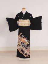 黒留袖レンタル(TS-11)黒/菊・熨斗 正絹