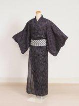 男性浴衣レンタル(YM-2)黒/縞