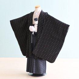 男児袴レンタル(5-13)黒/無地 ジャパンスタイル