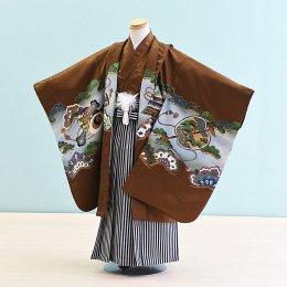 男児袴レンタル(5-15)茶/たか