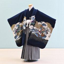 男児袴レンタル(5-16)紺/たか