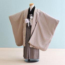 男児袴レンタル(5-12)ベージュ/無地 ジャパンスタイル