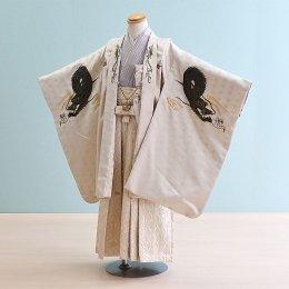 男児袴レンタル(5-39)白/龍 ひさかたろまん みに