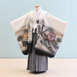 男児袴レンタル(5-18)白/たか