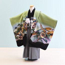 男児袴レンタル(5-69)うぐいす色/たか