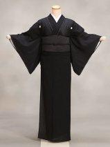 夏用喪服着物レンタル(KM-s1)黒 絽・正絹