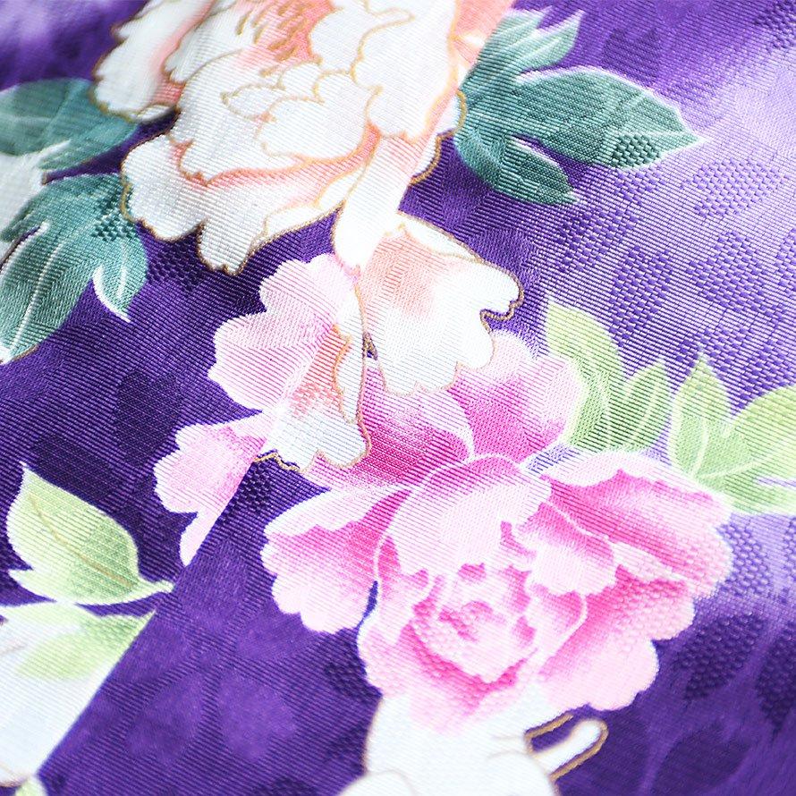 七五三着物三歳被布レンタルセット(3-14)紫・ピンク/花 キクチリョウコ