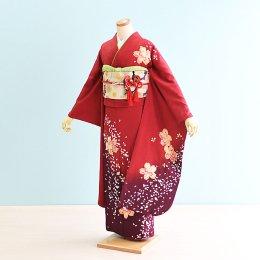 結婚式振袖レンタル(17-035)赤/花柄・桜