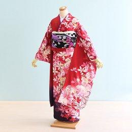 結婚式振袖レンタル(20-093)赤×白/花柄・花