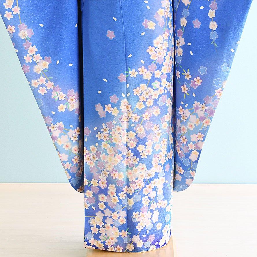 結婚式・結納式振袖レンタルフルセット(21-108)水色/花柄・桜