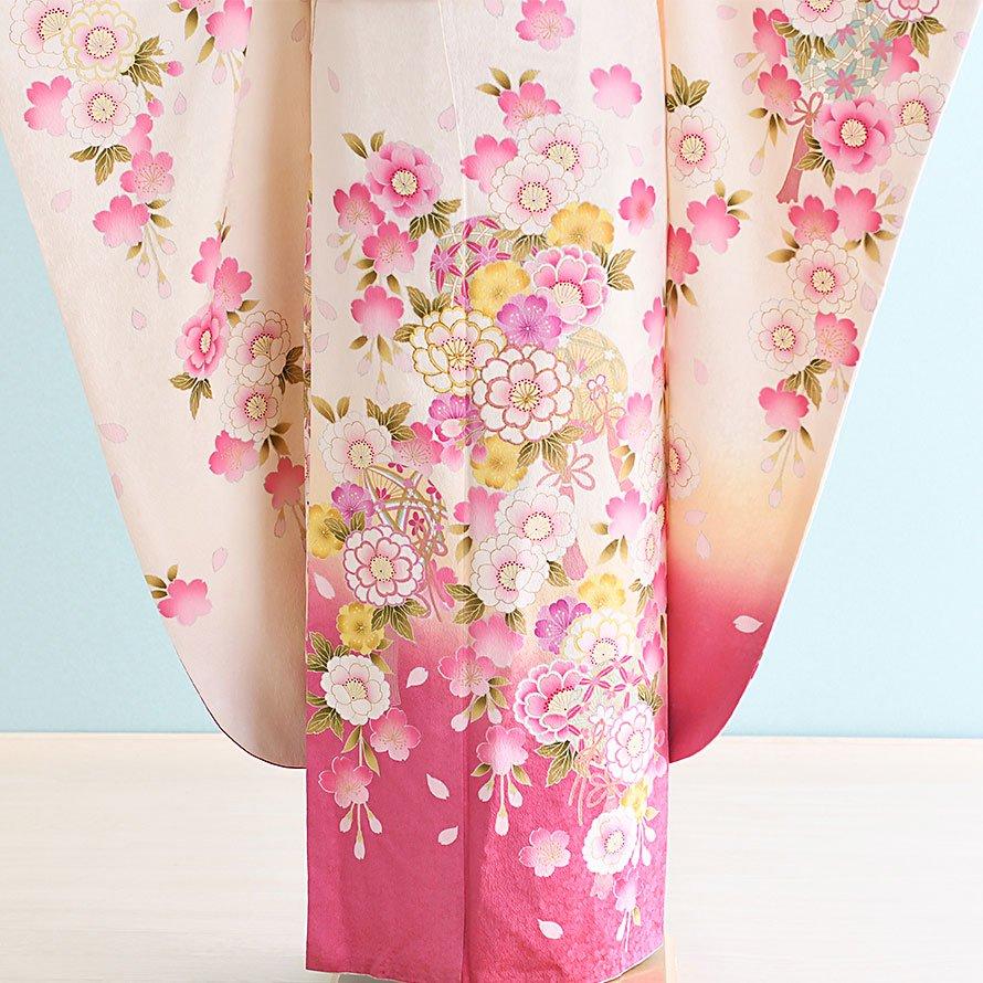 成人式振袖レンタルフルセット(20-102)白/花柄・花