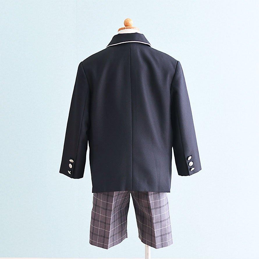 男の子フォーマルスーツレンタル(FB-1)110/半ズボン 黒・グレー