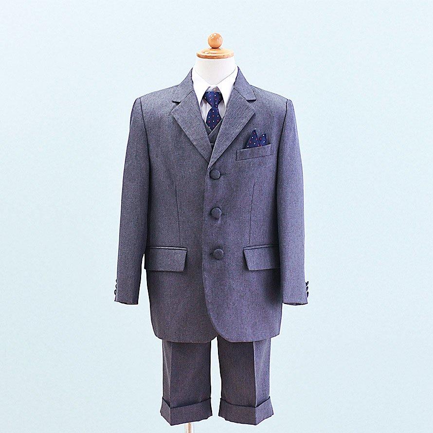 男の子フォーマルスーツレンタル(FB-3)120/半ズボン グレー