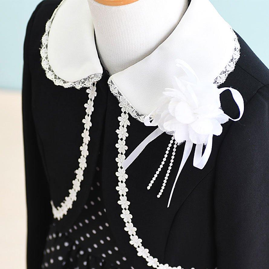 女の子フォーマルスーツレンタル(FG-2)120 黒/水玉 DOCORA PINKY'Sデコラピンキーズ