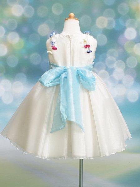女の子フォーマルドレスレンタル(CS-3)120 白・水色
