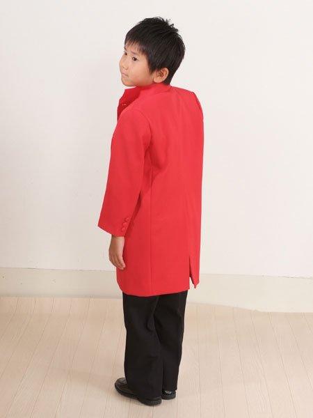 男の子フォーマルタキシードレンタル(P-7)110/5歳 赤