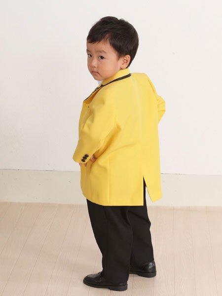 男の子フォーマルタキシードレンタル(P-8)90/2歳 黄色