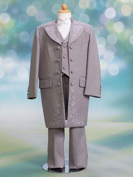 男の子フォーマルタキシードレンタル(P-13)100/3歳 グレー