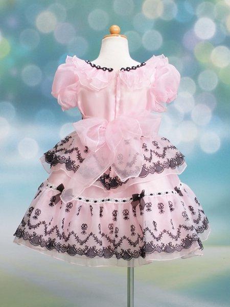 女の子フォーマルドレスレンタル(CS-17)100 ピンク・黒