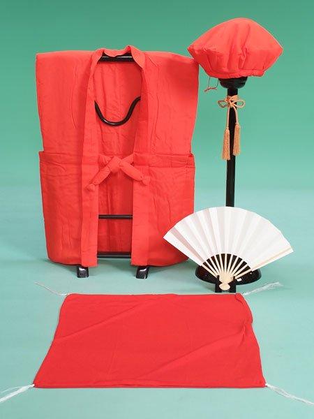 激安格安 長寿(還暦60歳)お祝い・ちゃんちゃんこレンタルフルセット(cho-red)赤/無地