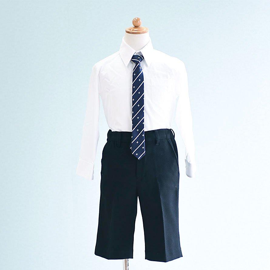 男の子フォーマルスーツレンタル(FB-6)110/半ズボン 白×黒/千鳥格子 MICHIKO LONDONミチコロンドン