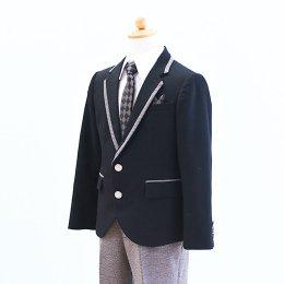 男の子スーツレンタル(FB-8)120/半ズボン 黒|グレー MICHIKO LONDONミチコロンドン