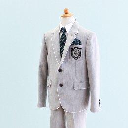 男の子スーツレンタル(FB-9)130/半ズボン 薄いグレー