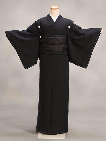 喪服着物レンタルフルセット(KM-w)黒 正絹