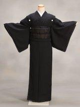 喪服着物レンタル(KM-w1)黒 正絹