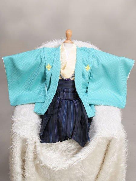 激安格安 男の子ベビー着物レンタル(BB-2)1歳〜1歳6ヶ月 緑・青|初節句・百日記念
