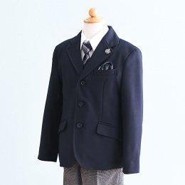 男の子スーツレンタル(FB-15)110/半ズボン 黒|グレー/チェック