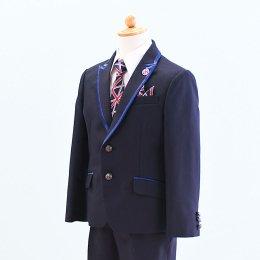 男の子スーツレンタル(FB-16)120/半ズボン 紺 MICHIKO LONDONミチコロンドン