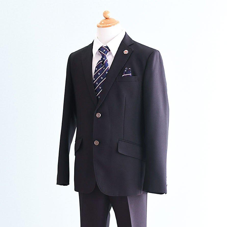 男の子フォーマルスーツレンタル(FB-21)150 黒 MICHIKO LONDONミチコロンドン