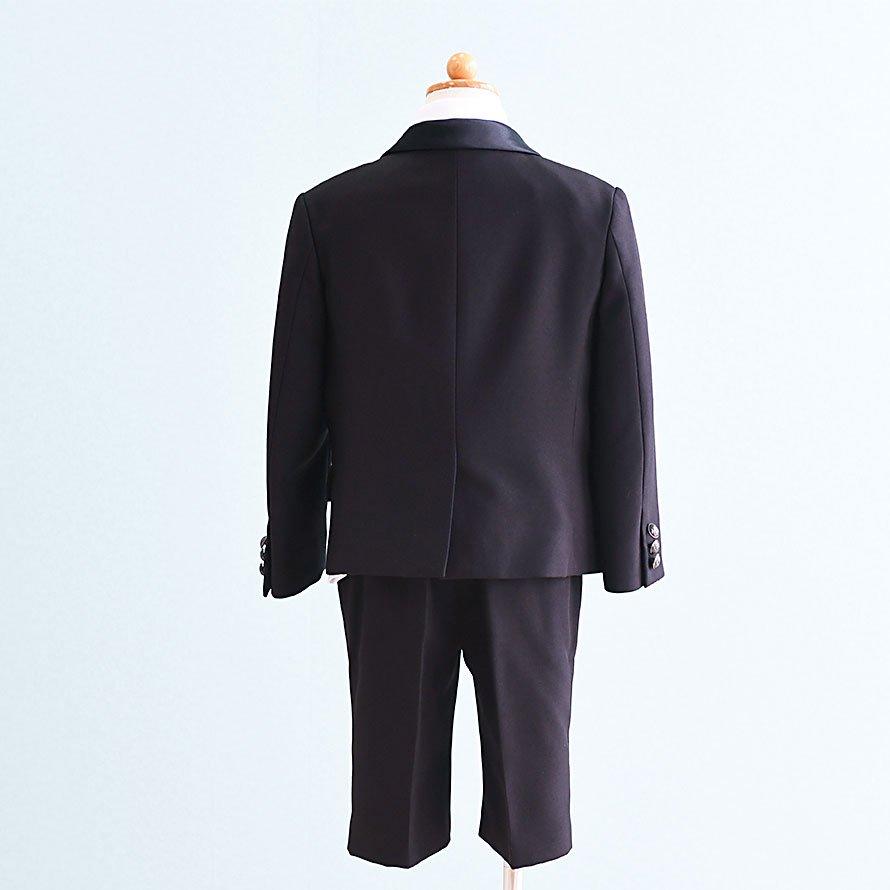 男の子フォーマルスーツレンタル(FB-24)120/半ズボン 黒 MICHIKO LONDON