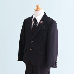 男の子スーツレンタル(FB-24)120/半ズボン 黒 MICHIKO LONDONミチコロンドン