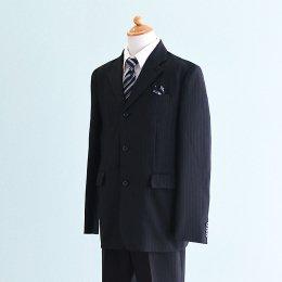 男の子スーツレンタル(FB-32)160 黒/ストライプ