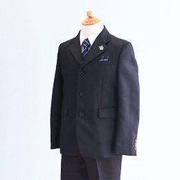 男の子スーツレンタル(FB-39)140 黒/ストライプ MICHIKO LONDONミチコロンドン