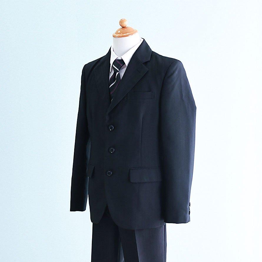 激安格安 男の子フォーマルスーツレンタル(FB-43)150/ズボン 黒/ストライプ BB|卒業式・発表会