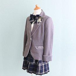 女の子スーツレンタル(FG-34)160 グレー・青/チェック DECORA PINKY'Sデコラピンキーズ