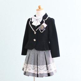 女の子スーツレンタル(FG-37)130 黒/千鳥格子 MICHIKO LONDONミチコロンドン