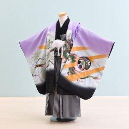 七五三着物五歳男の子レンタル(5-52)うす紫/たか・龍