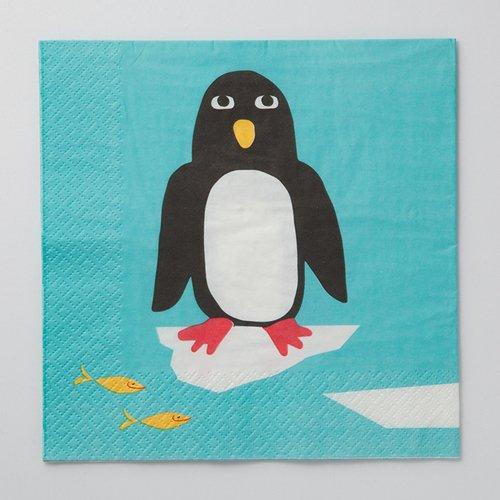 四つ折りペーパーナプキン(ペンギン)