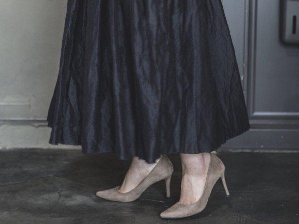 humoresque random tuck skirt/black