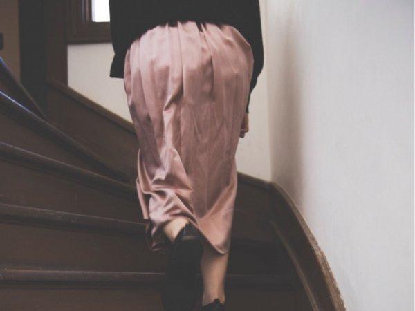 humoresque  gather skirt/pink beige